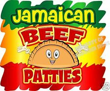 "Jamaican Beef Patties Decal 14"" Food Truck Restaurant Concession Van Vinyl Menu"