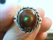 New Jewelry Silver & 4.66cts Fire Agate Gemstone Ring Size 7 3/4