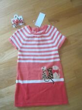 Toddler girl GYMBOREE CATS LEOPARD PEACH STRIPE SWEATER DRESS & CURLIES NWT 2T