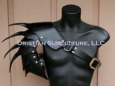 Single Leather War Wolf Spaulder Armor Elric of Melnibone articulated cosplay