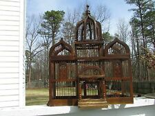 Antique Victorian Bird Cage ~ Wood and Metal Constructions