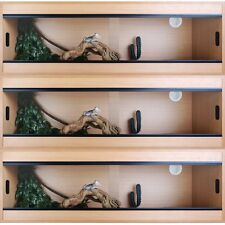 "Terapod Stack of 3 - 48"" 4ft Slim Beech Pro Reptile Vivarium Housing  4 Foot"
