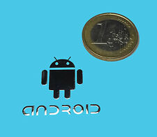 ANDROID METALISSED CHROME EFFECT STICKER LOGO AUFKLEBER 28x25mm [493]