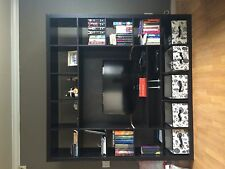 Stylish Dark Brown 6 Piece IKEA MALM bedroom set and EXPEDIT Entertainment Cent