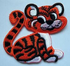 CUTE PRETTY BABY TIGER PANTHERA TIGRIS Embroidered Iron on Patch Free Shipping