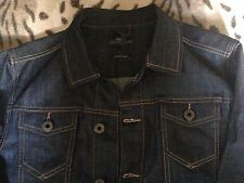 Next Mens V.Dark Indigo Blue Denim Medium Jacket Western Vintage Trucker Cowboy