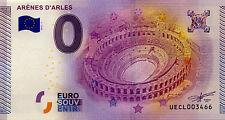 BILLET 2015 ZERO 0 EURO SOUVENIR 13 ARLES ARÈNES NO TOKEN MONNAIE JETON COINS