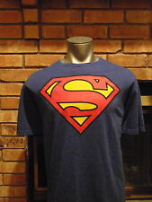 "SUPERMAN T-SHIRT-(Be the other man from Kripton)-Blue with big red ""S""-XXL"