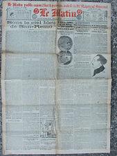 LE MATIN (19/4/1920) Général Fournier - San Remo - M; de Moro Giafferri -