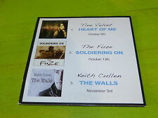 TINE VELVET - THE FUZE - KEITH CULLEN  - ONLINE RECORDS ! RARE CD PROMO !!!!!!!