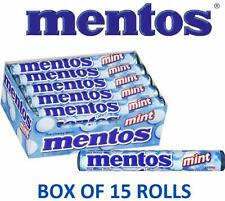 MENTOS MINT Box of 15 Rolls 1.32oz ea SHIPS FREE Chewy Flavor candy breath mints