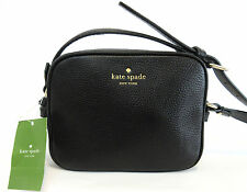 KATE SPADE PYPER MULBERRY STREET BLACK LEATHER CROSSBODY BAG $199 *NWT