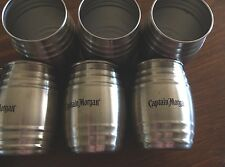 Lot of 6 CAPTAIN MORGAN Stainless Steel Shot Glasses