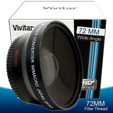 72mm Fisheye Wide Angle Macro Lens for Nikon 18-200mm f/3.5-5.6G Lens