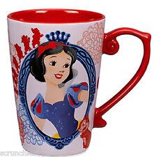 Disney Store Princess Snow White Coffee Mug Seven Dwarfs Red 2016