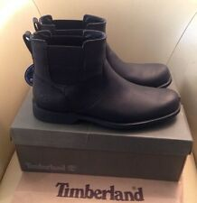 Mens Timberland Leather Waterproof Boots Walk Work Chelsea Black RRP £220 Sz 9.5