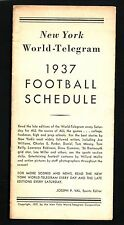 1937 New York World-Telegram College Football Schedule