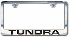 Chrome Engraved Toyota Tundra License Plate Frame-New, Block Lettering