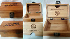 Raw Box #Rawlife Wood Smoking Accessories Stash Storage 2 Free Raw Rizla Inc