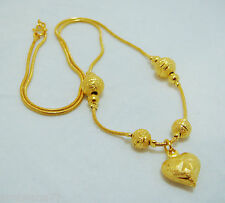 "22K 24K THAI YELLOW GP GOLD 17 "" NECKLACE Jewelry N_22"