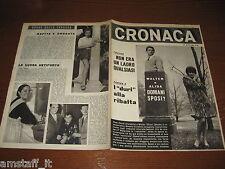 RIVISTA CRONACA=1963/9=cover walter chiari alida chelli=DELITTO ORGOSOLO=