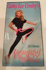 Cathy Lee Crosby's 20 Minute Beautiful Body Workout VHS '80's Weight Loss
