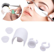 Eyelash Strip Holder Pallet Glue Ring Cups Set Volume Eye Lash Extension Kit