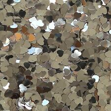 "Gold Heart Sequin 6mm (1/4"") Confetti Glitter Metallic No hole Costume Craft"