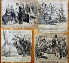 Le CHARIVARI Caricatures Humour Ch. VERNIER Parisiennes et Parisiens