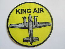 King Air  Embroidered Patch -  Iron On - 80mm - P022
