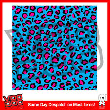 LEOPARD PRINT / HOONIGAN STICKERBOMB SHEET @ 1m X 300mm VW/ DRIF /JDM/ BLUE&PINK