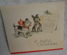 Scotty Scottie Dog And Terrier Christmas Carol Christmas Card