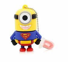 USB Flash Drive 8GB Purple Minions SupermanPen Drive UK SELLER usb Pendrive 8 gb