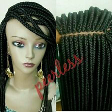 Fully hand braided lace front box braid wig color 1 and avail in all hair color