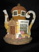 "Hometown Teapot Cottages ""Antiques""- Miniature, Excellent Collectible!"