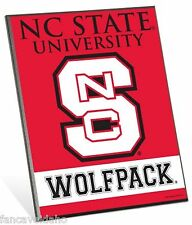 "North Carolina State Wolfpack Logo Premium 8"" x 10"" Solid Wood Easel Sign"