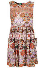TOPSHOP FOLKLORE NAVAJO PRINT TUNIC SHIFT DRESS 6 34 2!