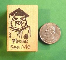 Please See Me Owl - Teacher's Reminder Rubber Stamp