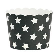 Miss Étoile Muffinförmchen schwarz mit Sternen 24tlg.