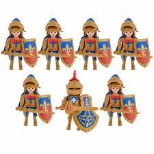 Playmobil falcon Knights Figures Axes Castle Lot New Rare Accessories lot Leader