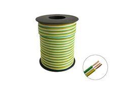 25m Drillingslitze grün weiß gelb 3x 0,14mm² dreiadrig Litze Weichen Signale