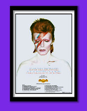 David Bowie Poster.  Aladdin Sane Album and Tour Promo . Large B2  (50x70cm) Pri