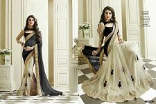 INDIAN DESIGNER WOMEN WEDDING SARI BOLLYWOOD PARTY WEAR ETHNIC SAREE 4072