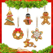 6Pcs/ Pack DIY Christmas Tree Hanging Ornaments Clay Pendants Decor Toy Gift New