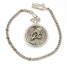 Motorbike 1 Pocket Watch Gift Boxed With FREE ENGRAVING Motorsports Gift