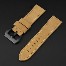 INFANTRY Watch Band Belt Strap Replacement Brown Leather 22mm Width Black Buckle