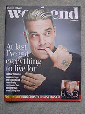 Weekend Mag, Robbie Williams,Robert Vaughn,Jack Donnelly,Joanna Page,Sarah Beeny