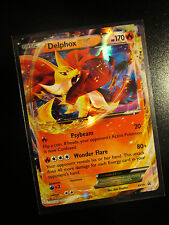 NM DELPHOX EX Pokemon Card PROMO Black Star XY19 Set Ultra Rare Kalos Power Tin