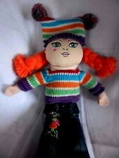 """Childrens Place Pals Doll Plush 13"""" Stuffed Toy Redhead Striped Sweater"""