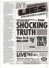GUNS N' ROSES Lies b/w UK magazine ADVERT / mini Poster 11x6""